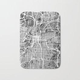 Kansas City Missouri City Map Bath Mat