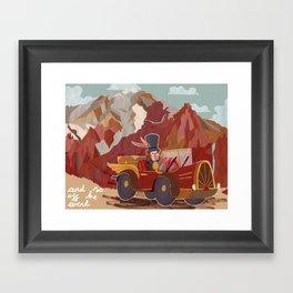 Arnold drives Framed Art Print
