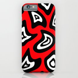Abstract pattern - red, black and white. iPhone Case