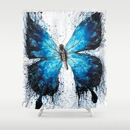 The Butterfly Tattoo Shower Curtain