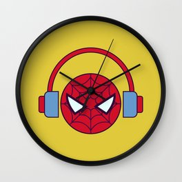 Spider-man Homecoming Minimalist Poster - Headphones Wall Clock