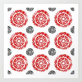 Sun mandala pattern Art Print