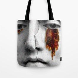 Lava face vaporwave Tote Bag
