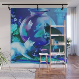 Kittens with Goldfishes Wall Mural