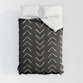 Mudcloth Big Arrows in Black and White Comforters