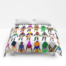 Superhero Butts - Girls - Row Version - Superheroine Comforters