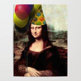 Mona Lisa Birthday Girl Poster