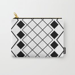 Black and white nordic geometric diamond pattern Carry-All Pouch