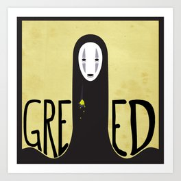 Greed Art Print