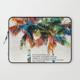 Colorful Palm Trees - Returning Home - By Sharon Cummings Laptop Sleeve