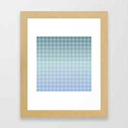 Checkered gingham stripes Framed Art Print