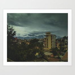 Kathmandu City Roof Top 002 Art Print