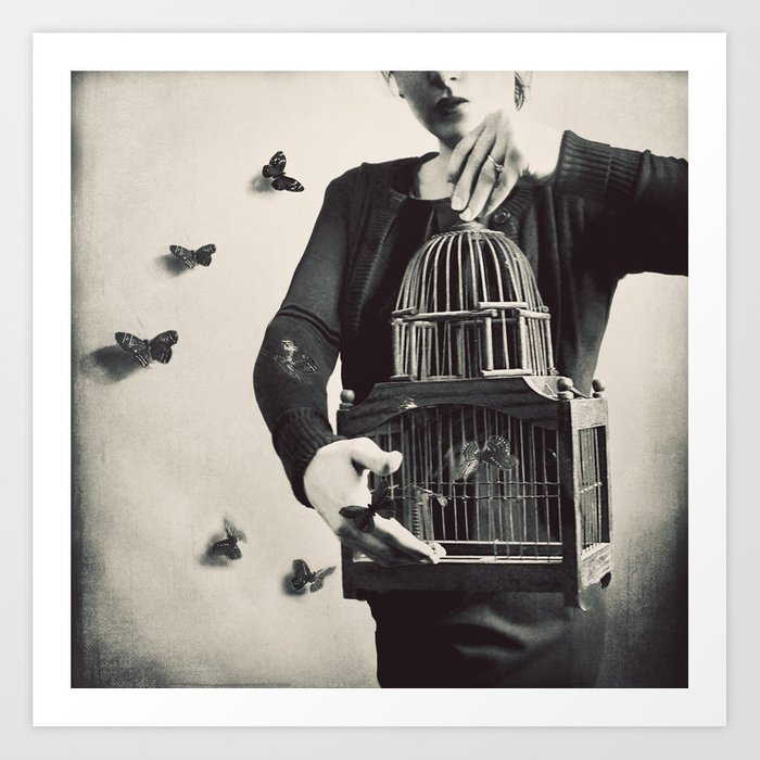The Butterfly Releaser Kunstdrucke