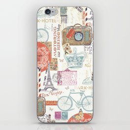 Paris Pattern 1 World Travel iPhone Skin