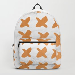 X Cross Love Marble Bronze Copper Gold Backpack