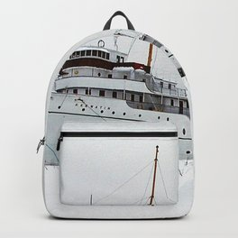 SS Keewatin in Winter White Backpack