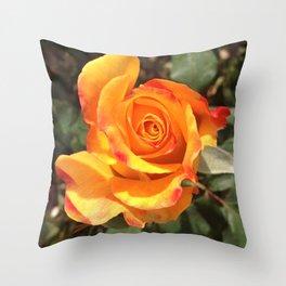 Flamebud Throw Pillow