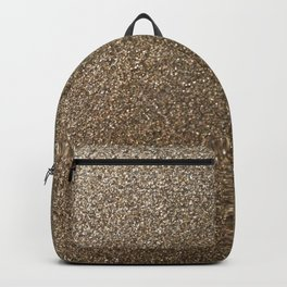 gold glitter photo Backpack