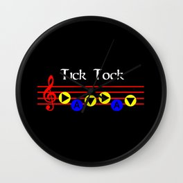 Tick Tock - Song Of Time (The Legend Of Zelda: Ocarina Of Time) Wall Clock