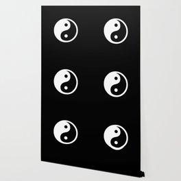 Yin Yang Black White Wallpaper