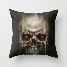 BIONIC SKULL Throw Pillow