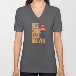Rise Shine Case Deliver Unisex V-Neck