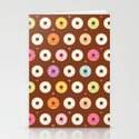 Kawaii Donuts Pattern on Brown by mycutelobster