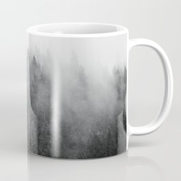 Black and White Mist Ombre Coffee Mug