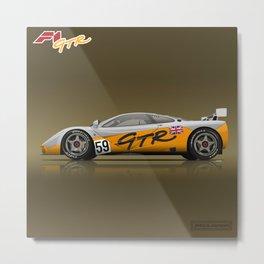 1995 McLaren F1 GTR #01R Prototype #59 Metal Print