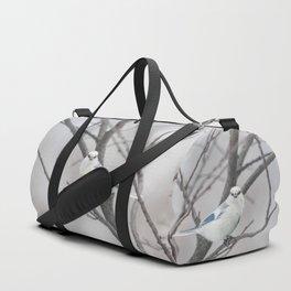 Azure tit, white prince Duffle Bag