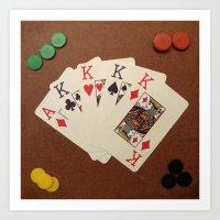 Poker de Reyes Art Print