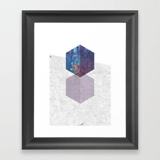 Rough diamonds Framed Art Print