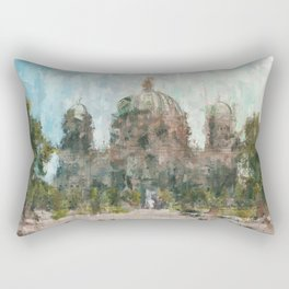 Berlin Cathedral Painting /  impressionism style Illustration - Berliner Dom Rectangular Pillow