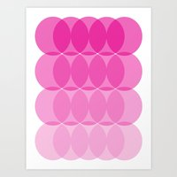 ombre Art Prints featuring Ombre by TypeArtist