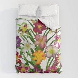 Display of daylilies II Comforters