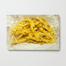 Chips Served in Paper Metal Print