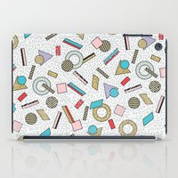 toddler iPad Cases featuring Modern Memphis Inspired Geometric Gold Pattern by Season of Victory