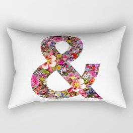 & ampersand print Rectangular Pillow