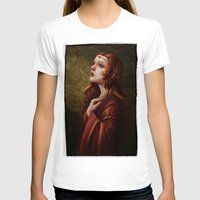 medieval T-shirts featuring Medieval Woman by Ayu Marques