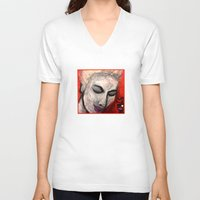 grace V-neck T-shirts featuring Grace by Helen Syron