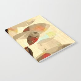 Mod art, circle art, Mid Century Modern Notebook