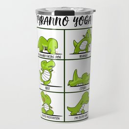 T-Rex Yoga for Women & Men | Namaste Om Dinosaur Light Travel Mug