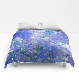 Cornflower Blue Abstract Painting Comforters
