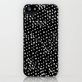 Dotted - Black iPhone Case