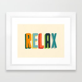 Relax Framed Art Print