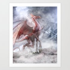 Epic dragon Art Print
