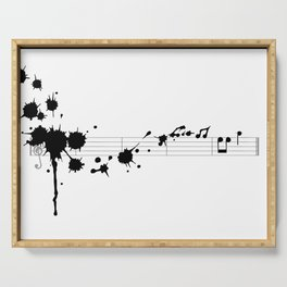 Splatter in D Minor Serving Tray
