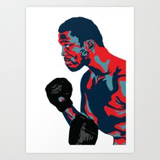 Smokin' Joe Frazier Art Print