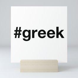 GREEK Hashtag Mini Art Print