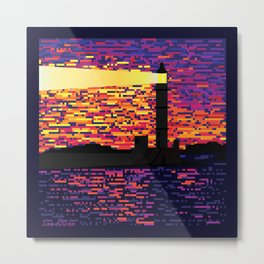 Beacon of light. Lighthouse Metal Print